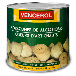 Alcachofas al natural lata 3 Kg